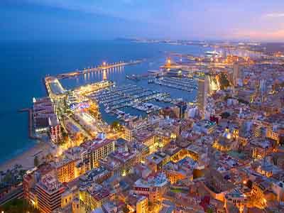 Vista aérea de Alicante